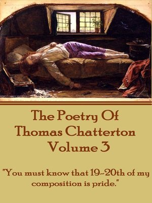cover image of The Poetry of Thomas Chatterton, Volume 3