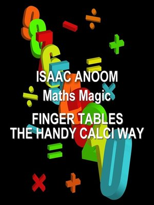 cover image of Finger Tables, The Handy Calci Way