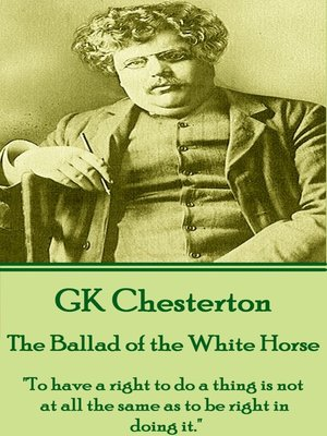 cover image of The Ballad of the White Horse