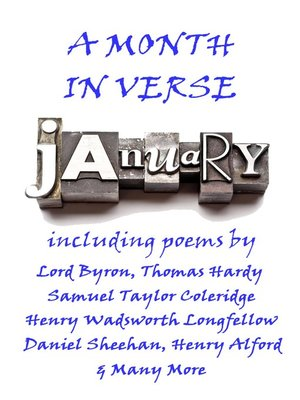 cover image of January, A Month In Verse