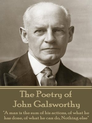 cover image of The Poetry of John Galsworthy