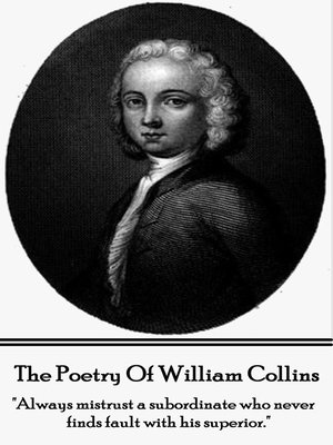 cover image of The Poetry of William Collins