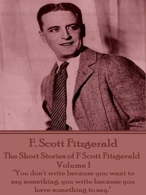 cover image of The Short Stories of F Scott Fitzgerald: Volume 1