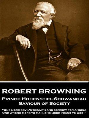 cover image of Prince Hohenstiel-Schwangau, Saviour of Society