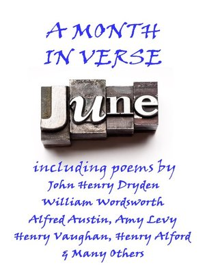 cover image of June, A Month in Verse