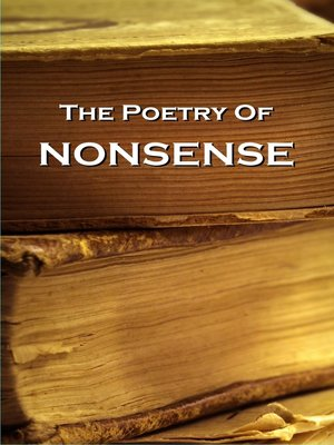 cover image of The Poetry of Nonsense Verse