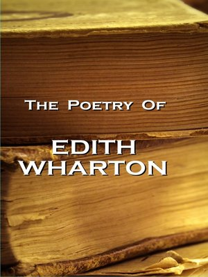 cover image of The Poetry of Edith Wharton