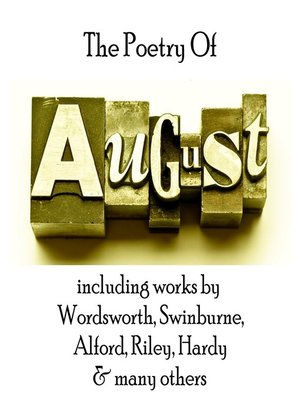 cover image of The Poetry of August