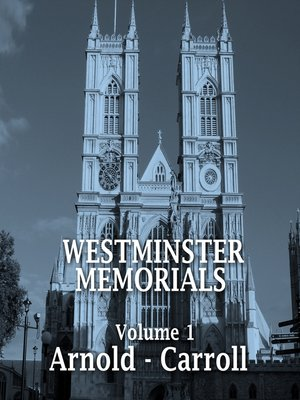 cover image of Westminster Memorials, Volume 1