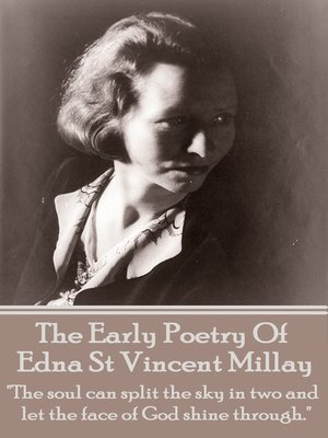 cover image of The Early Poetry of Edna St Vincent Millay
