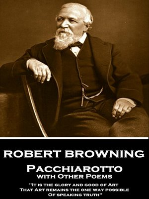 cover image of Pacchiarotto with Other Poems