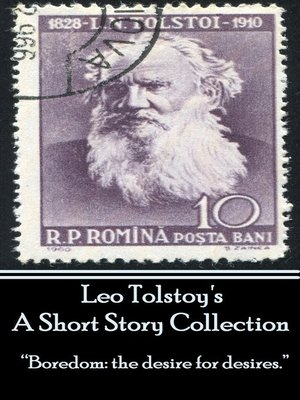 cover image of Leo Tolstoy's A Short Story Collection