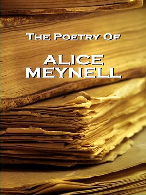 cover image of The Poetry of Alice Meynell