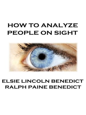 cover image of How to Analyze People on Sight