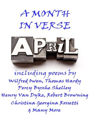 cover image of April, A Month In Verse