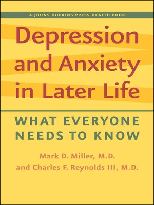cover image of Depression and Anxiety in Later Life