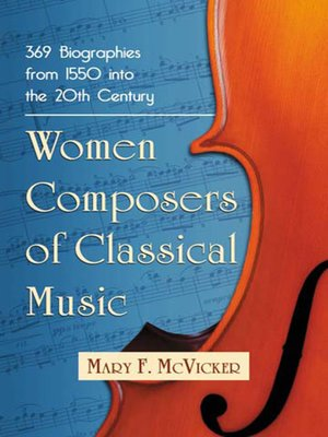 cover image of Women Composers of Classical Music
