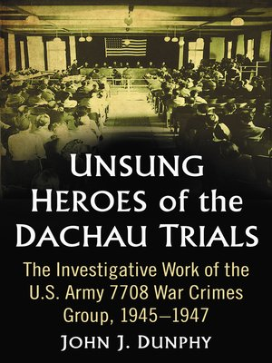 cover image of Unsung Heroes of the Dachau Trials
