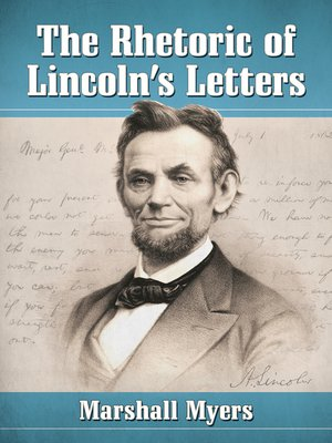 cover image of The Rhetoric of Lincoln's Letters