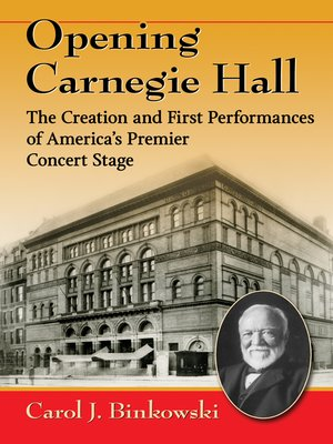 cover image of Opening Carnegie Hall