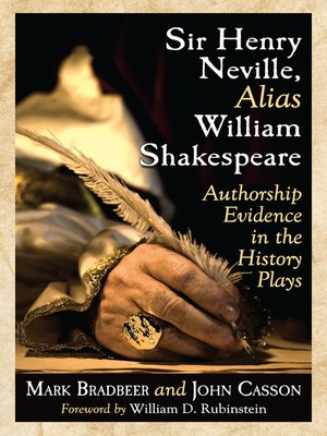 cover image of Sir Henry Neville, Alias William Shakespeare