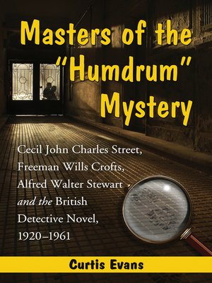"cover image of Masters of the ""Humdrum"" Mystery"
