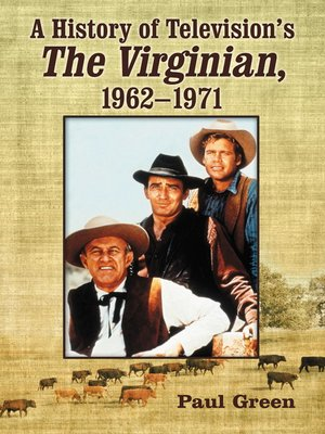 cover image of A History of Television's the Virginian, 1962-1971