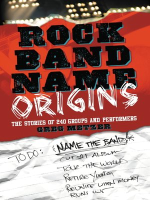 cover image of Rock Band Name Origins