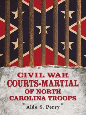 cover image of Civil War Courts-Martial of North Carolina Troops