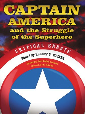 cover image of Captain America and the Struggle of the Superhero