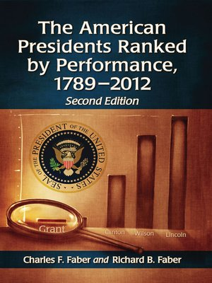 cover image of The American Presidents Ranked by Performance, 1789-2012, 2d ed.