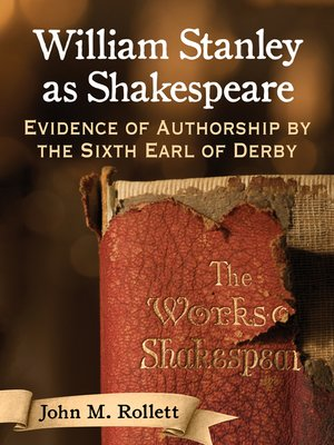 cover image of William Stanley as Shakespeare