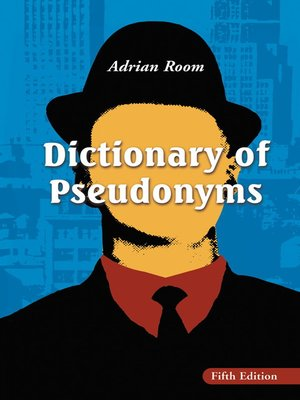 cover image of Dictionary of Pseudonyms