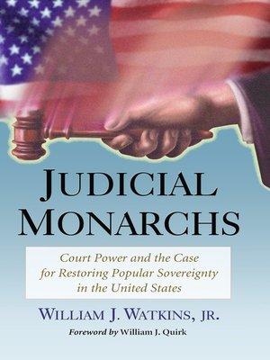 cover image of Judicial Monarchs