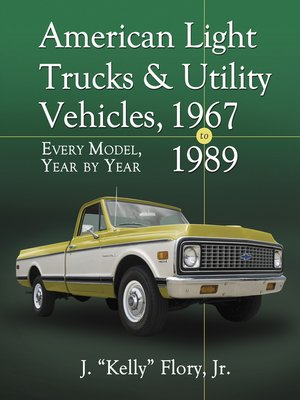 cover image of American Light Trucks and Utility Vehicles, 1967-1989