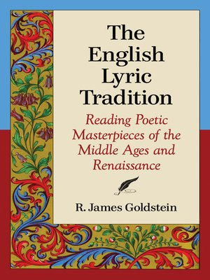 cover image of The English Lyric Tradition