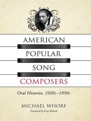 cover image of American Popular Song Composers