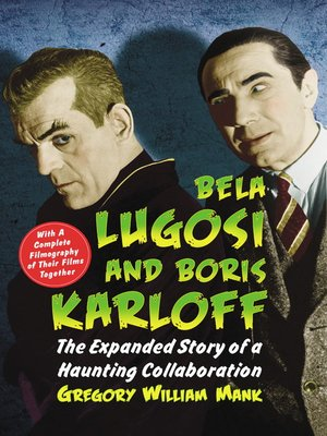 cover image of Bela Lugosi and Boris Karloff