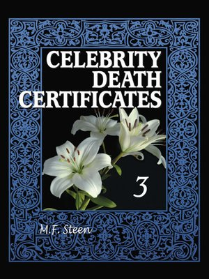cover image of Celebrity Death Certificates 3