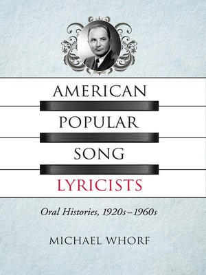 cover image of American Popular Song Lyricists