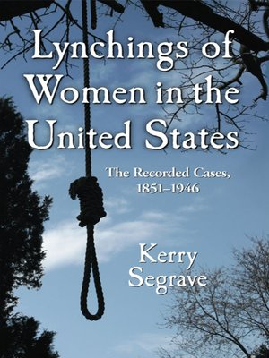 cover image of Lynchings of Women in the United States