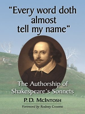 """cover image of """"Every word doth almost tell my name"""""""