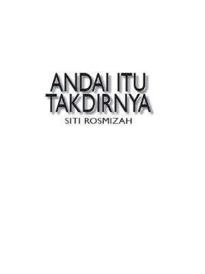 cover image of Andai Itu Takdirnya