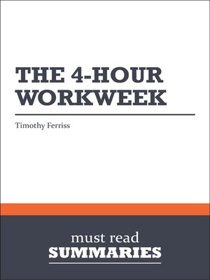 cover image of The 4-hour Workweek - Timothy Ferriss