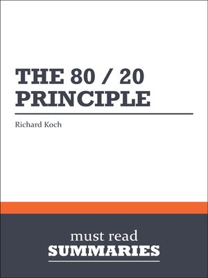 cover image of The 80/20 Principle - Richard Koch