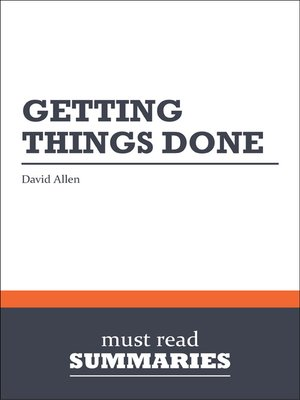cover image of Getting Things Done - David Allen