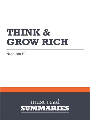 cover image of Think and Grow Rich - Napoleon Hill
