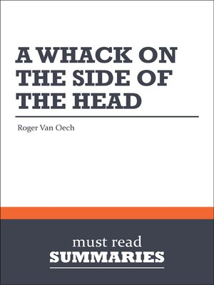 cover image of A Whack on the Side of the Head - Roger Van Oech