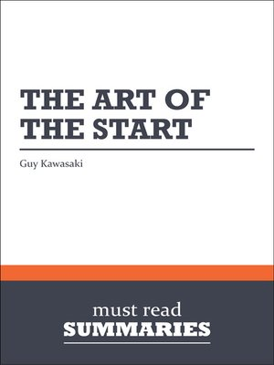 cover image of The Art of the Start - Guy Kawasaki