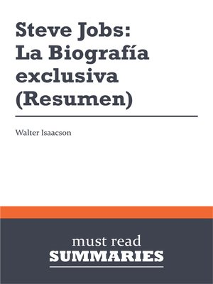 cover image of Steve Jobs: La Biografía exclusiva - Walter Isaacson